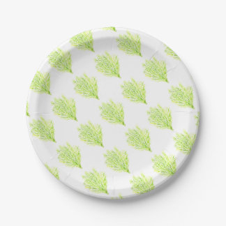 Dill herbs Dill watercolour Paper Plate