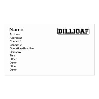 "DILLIGAF – Funny rude ""Do I look like I Give A"" Pack Of Standard Business Cards"