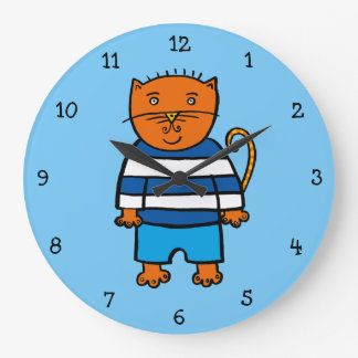 Dillon the Cat Large Clock