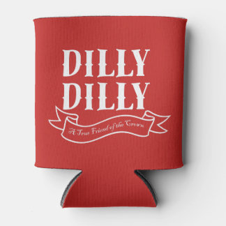 Dilly Dilly Red Can Cooler (White)