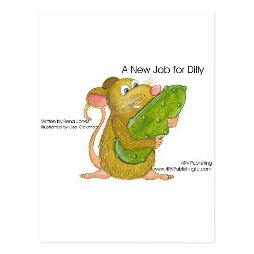 Dilly holding pickle, A NEW JOB FOR DILLY Postcard