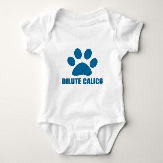 DILUTE CALICO CAT DESIGNS BABY BODYSUIT