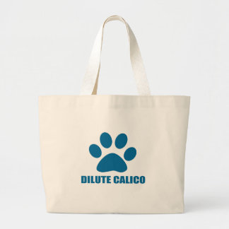 DILUTE CALICO CAT DESIGNS LARGE TOTE BAG