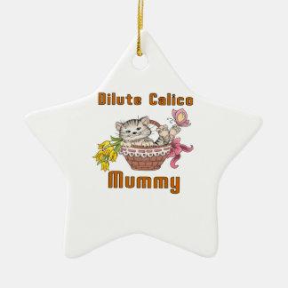 Dilute Calico Cat Mom Ceramic Ornament