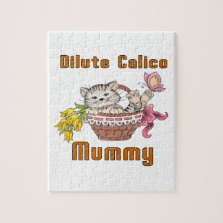 Dilute Calico Cat Mom Jigsaw Puzzle