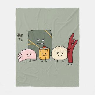 Dim Sum Pork Bao Shaomai Chinese dumpling Buns Bun Fleece Blanket