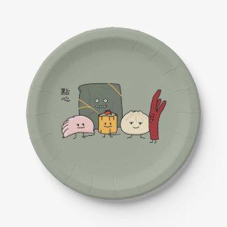 Dim Sum Pork Bao Shaomai Chinese dumpling Buns Bun Paper Plate