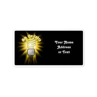 Dim The Energy Saving Light Address Label