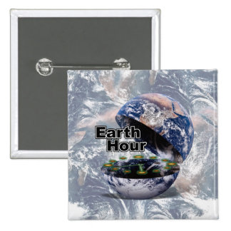 Dim The Lights For Earth Hour (Earth Open) Pin