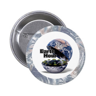 Dim The Lights For Earth Hour Earth Open Pinback Button