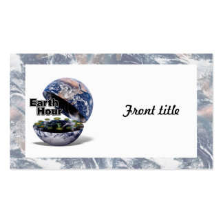 Dim The Lights For Earth Hour (Earth Open) Business Card Template