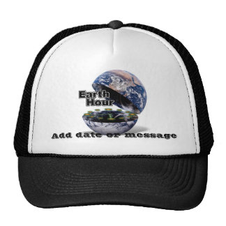 Dim The Lights For Earth Hour (Earth Open) Trucker Hats