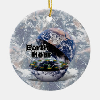Dim The Lights For Earth Hour (Earth Open) Christmas Ornaments