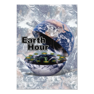 Dim The Lights For Earth Hour (Earth Open) Personalized Invite