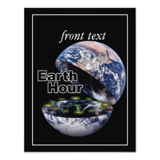 "Dim The Lights For Earth Hour (Earth Open) 4.25"" X 5.5"" Invitation Card"
