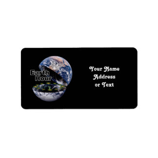 Dim The Lights For Earth Hour (Earth Open) Address Label