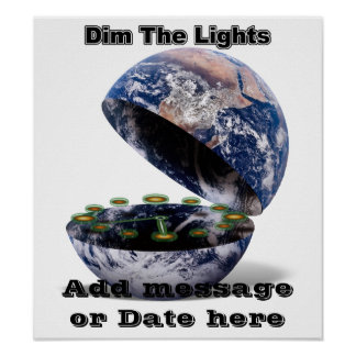 Dim The Lights For Earth Hour (Earth Open) Poster