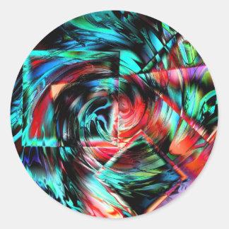 Dimension Round Stickers