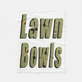 Dimensional Lawn Bowls Logo On White, Fleece Blanket
