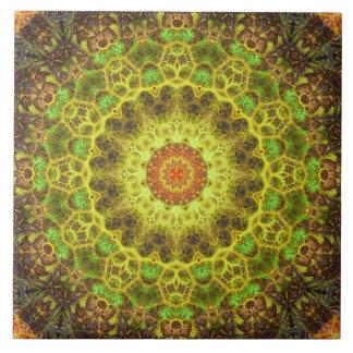Dimensional Transition Mandala Ceramic Tile