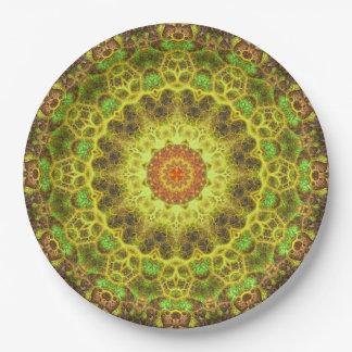 Dimensional Transition Mandala Paper Plate