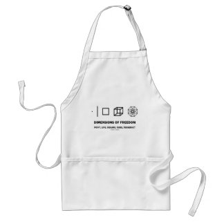 Dimensions Of Freedom (Geometry Humor) Apron