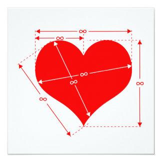 Dimensions of Love 13 Cm X 13 Cm Square Invitation Card
