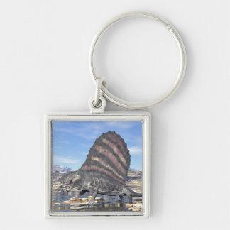 Dimetrodon in the desert - 3D render Key Ring