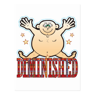 Diminished Fat Man Postcard