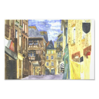 Dinan Medieval Town Centre Brittany Photo