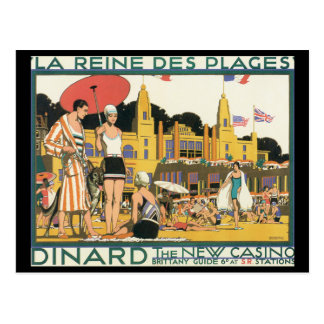 Dinard The New Casino_Vintage Travel Postcard