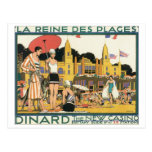 Dinard The New Casino Vintage Travel Poster Post Card