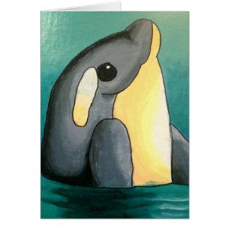 Dina's Dolphin Notecard