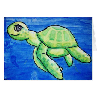 Dina's Sea Turtle Card