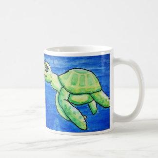 Dina's sea turtle mug, double image, classic size coffee mug