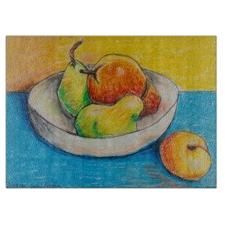 Dina's Still Life Fruit Bowl Cutting Board
