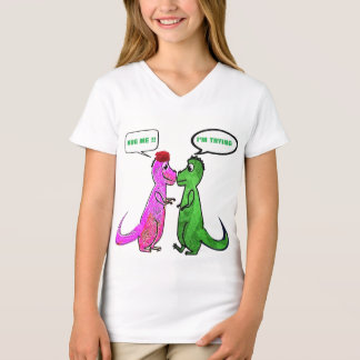 dinasaurs t-rex love you hug me funny t-shirt