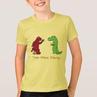 dinasaurs t-rex Tea Rex tea party funny t-shirt