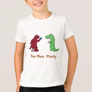 dinasaurs Tea Rex tea party funny t-shirt design
