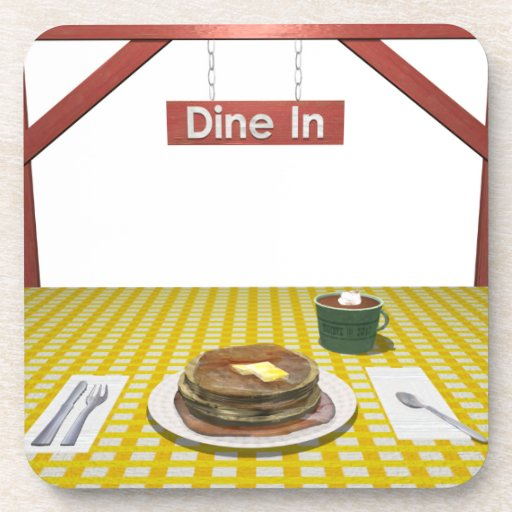 Dine In Waffles Drink Coasters