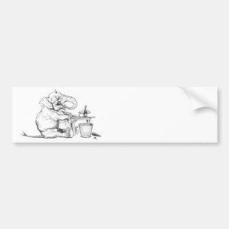 Dine Like An Elephant Illustration Bumper Sticker