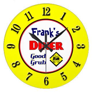 Diner Custom Retro Wall Clock