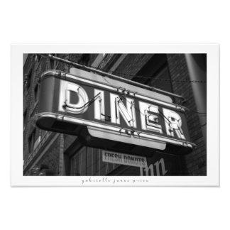 "Diner / Fresh Donuts || Decorative Print 19"" x 13"""