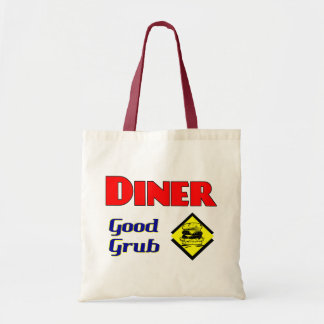 Diner Good Grub Hamburger Restaurant Art Tote Bags