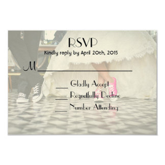 Diner style wedding couple RSVP Card