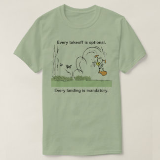 Ding Duck Aviation Humor Mens Shirt