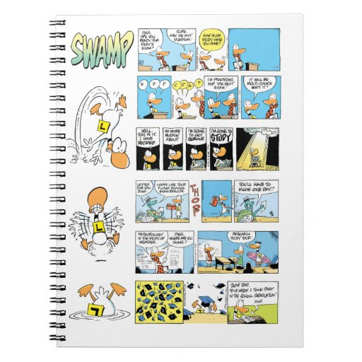 Ding Duck Flying School Exams Spiral Note Book