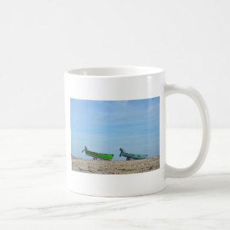 Dinghies On A Beach Coffee Mug