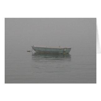 Dinghy in the Fog Card