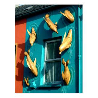 Dingle Dolphins on Souvenir Shop Postcard
